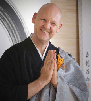 Julian Daizan Skinner Roshi, our teacher in the UK.