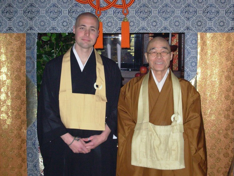 Matt Shinkai Kane with Shinzan Roshi