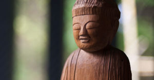 Carving of Buddha by Enku