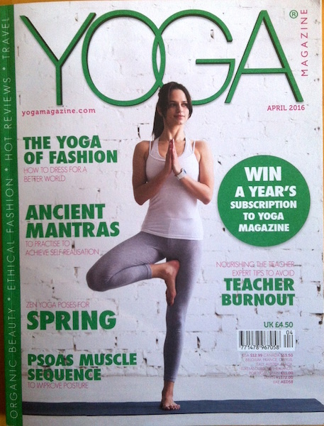 Yoga Magazine front cover - zen yoga article for Spring