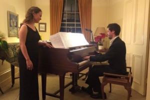 "Judith and Benjamin playing pieces from ""In Heaven's River"""