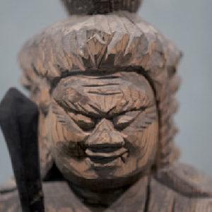Fudo carving by Enku