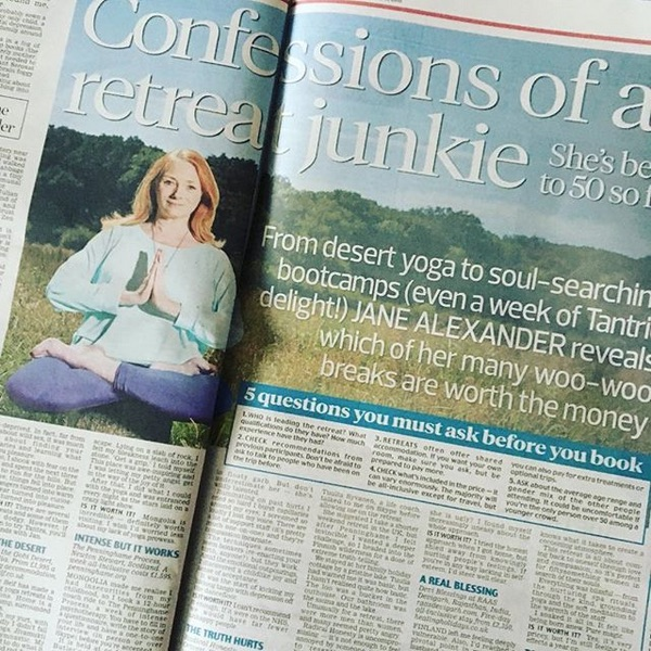 Confessions of a retreat junkie - Daily Mail 7/1/18