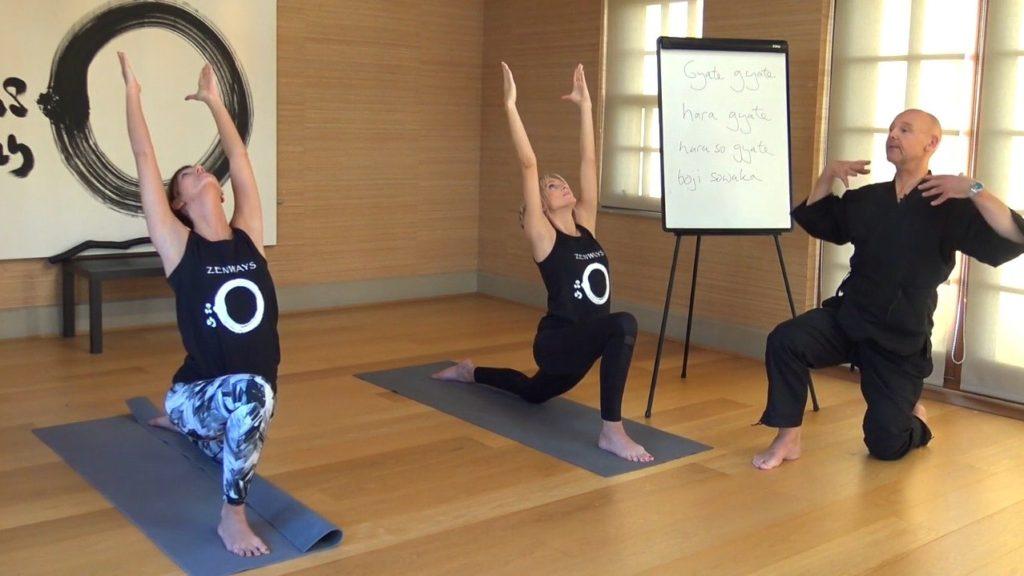 Daizan teaching Zen Yoga for autumn