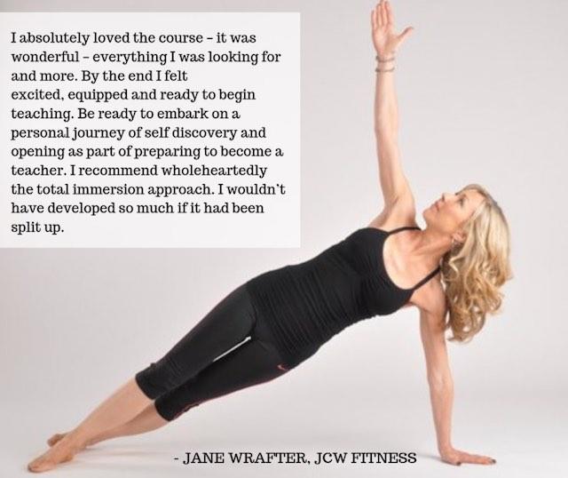 Jane Wrafter yoga TT course testimonial