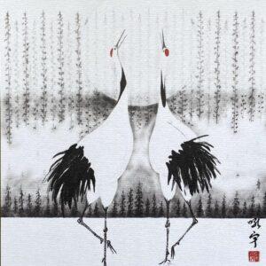 Two birds shikishi